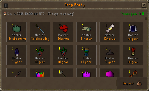 Etherum drop party